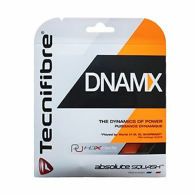 Tecnifibre DNMAX - Black - Squash String - Set - 1.25mm / 16G -FREE UK P&P