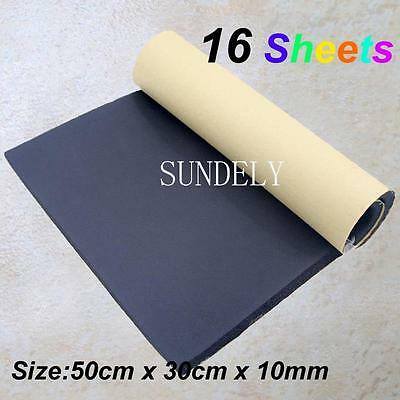 16Sheets Car Sound Proofing Deadening Vehicle Insulation Closed Cell Foam 10mm