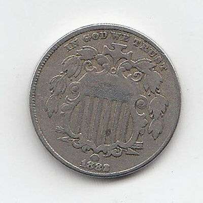 1882 US 5 Cents - Nice Condition! (J)