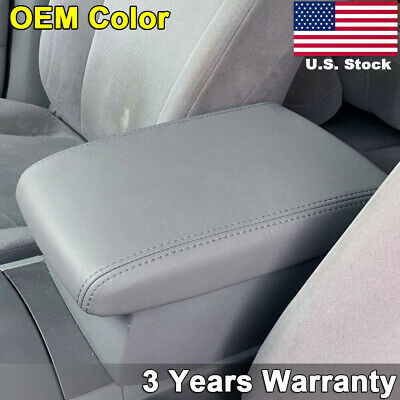 Leather Center Console Armrest Lid Cover Fits Toyota Highlander 08-13 Ash Gray