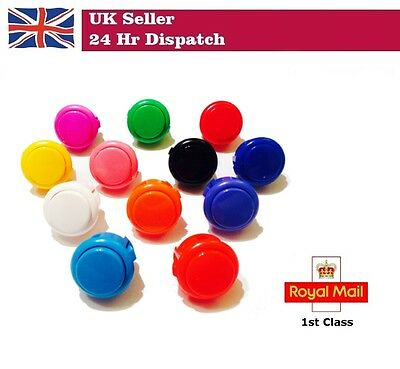 5 x OEM 30mm Push Buttons Arcade Sanwa OBSF-30 for Raspberry Pi