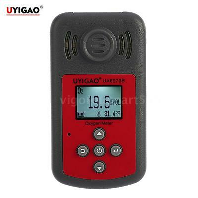 UYIGAO Portable LCD Oxygen Meter O2 Gas Concentration Tester Tool 0~25%VOL D7V8
