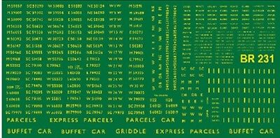 Modelmaster 4Mm Scale Transfers Br Yellow Lettering & Numbers For Dmus Br231