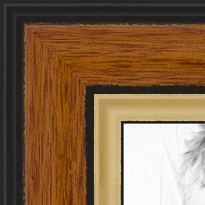 """ArtToFrames Custom Picture Poster Frame Brown Medium Tri-colored 1.25"""" Wide"""