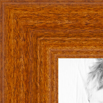 """ArtToFrames Custom Picture Poster Frame Brown Honey on Maple 1"""" Wide Wood"""