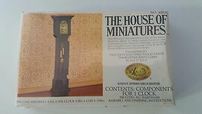 New X-Acto The House of Miniatures - William and Mary Tall Case Clock 40018 Doll