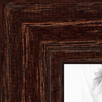 """ArtToFrames Custom Picture Poster Frame Brown Walnut Stain on 1.125"""" Wide Wood"""