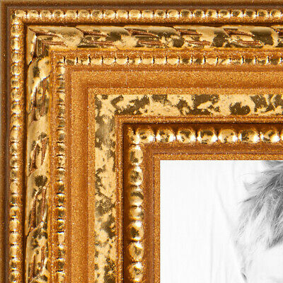 "ArtToFrames Custom Picture Poster Frame Beaded Gold 1"" Wide Wood"