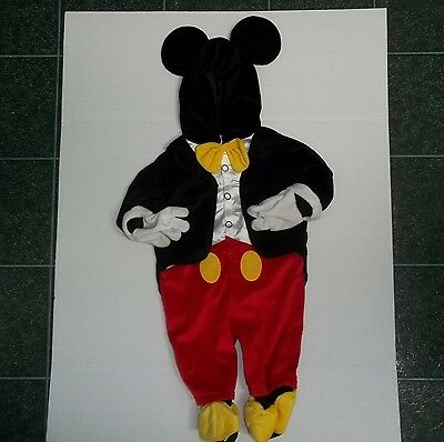 Disney Baby Mickey Mouse Tuxedo Plush Costume 9 -12 Months Jumpsuit Warm