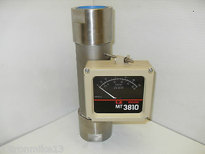 """New Brooks Instrument Mt-3810 3810A15C1Paa1A1 Flow Meter Percent/gpm Water 2""""npt"""