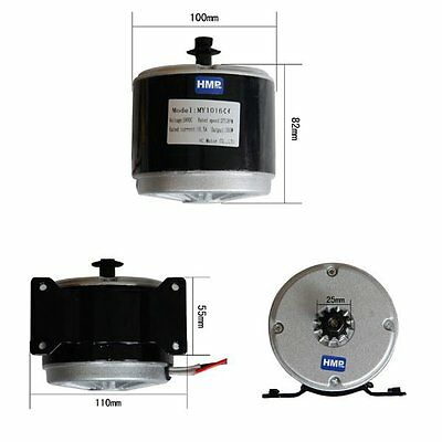 HMParts E-Scooter electric Motor 24V 350 W - Model: MY1016