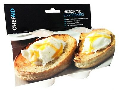 ChefAid Microwave Egg Cookers Easy Egg Cooking in Minutes Pack of 2