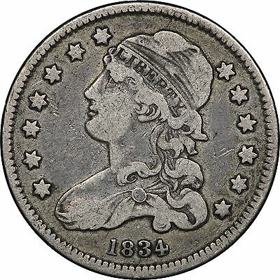 1834 Capped Bust Quarter, Very Fine VF