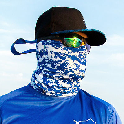 Blue & White Digi Face Shield Mask Salt Armour Buff Neck Gaiter Balaclava SA Co