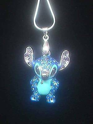 """Brand New Disney 3-D Crystal Covered Stitch 18"""" Necklace"""