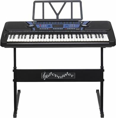 61 key digital interactive teaching portable keyboard piano workstation & stand