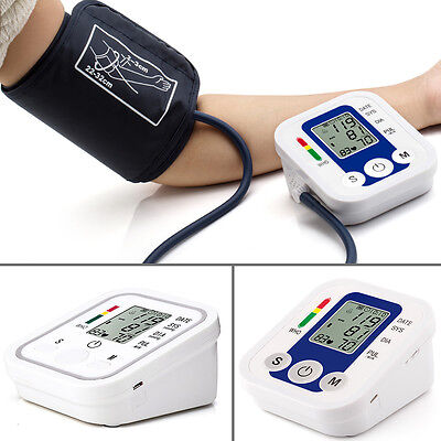 Automatic Digital LCD Arm Cuff Blood Pressure Pulse Monitor Sphgmomanometer PA