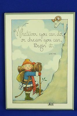Mary Engelbreit ColorPlak Plaque Wall Hanging WHATEVER YOU CAN DO Motivational