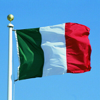 Italy Italian Polyester National Flags with Grommets Tricolor Large Banner 3x5ft