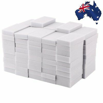 100pcs 100 x 60 x 20mm Magic Sponge Cleaner Super Decontamination Eraser ZL