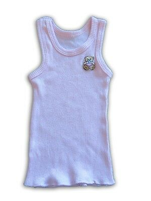HANDMADE Girls Pink Singlet with Mini Teddy Bears ~ Size 000