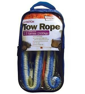 Emergency Stretch Bungee Tow Rope 3.5m with Hooks