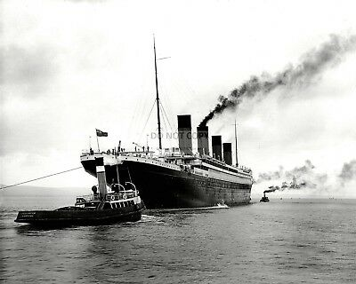 Rms Titanic Leaves Belfast For Sea Trials On April 2, 1912 - 8X10 Photo (Op-008)