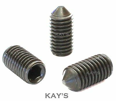 Cone Point Grub Screws High Tensile Allen Key Headless Socket M3 M4 M5 M6 M8 M10
