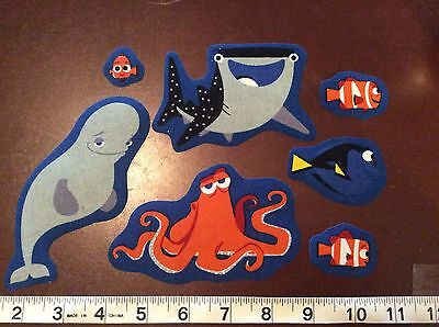 Disney Pixar  Finding Dory  Fabric Iron Ons  set of 7 Nemo Hank etc.