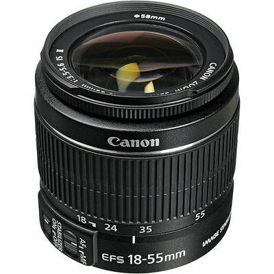 NEW Canon EF-S 18-55mm f/3.5-5.6 IS II Lens For Canon DSLR Zoom Lens