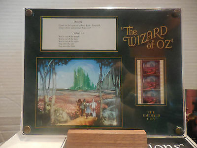 Wizard Of Oz 35mm Movie Film Strip Clip Tabletop Lithograph by Recollections NIB