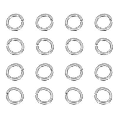10g 304 Stainless Steel Open Jump Rings Unsoldered Strong Loop Findings 4~8mm