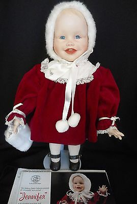 "Ashton Drake Porcelain Doll ""Jennifer"" by Yolanda Bello Picture Perfect Babies"