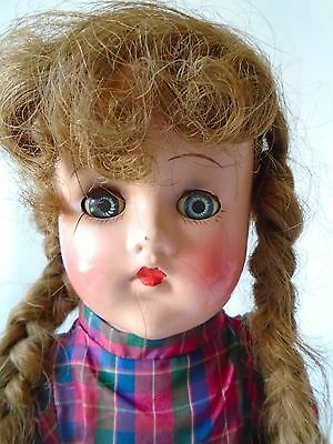 "Very Vintage 18"" composition doll McGuffey Anna or LAL"