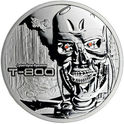 "The Terminator Series ""T-800"" High Relief 2 oz .999 Silver Proof Round USA Coin"