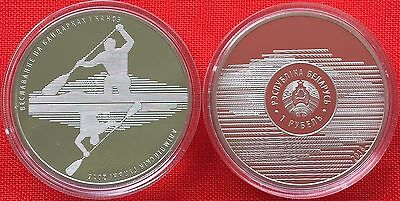 """Belarus 1 rouble 2016 """"Olympic Games - Kayak and Canoe Sprint"""" Cu-Ni PROOF"""