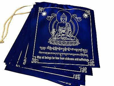 Large Prayer Flags Solid Blue Color Medicine Buddha Healing Prayer flags Flags