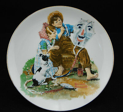 Norman Rockwell Plate  Japan, 6 1/2""