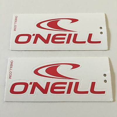 "2 Oneill Red & White New 4"" Stickers Decals Boarding Skiing Skate Helmet Board l"