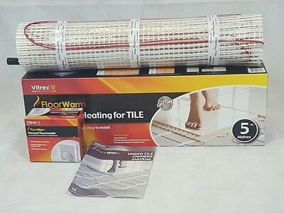 Electric Underfloor Heating mat kit 150w per m2 For Tiles ALL SIZES