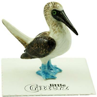 "Little Critterz Miniature Porcelain Bird Figure Blue Footed Booby ""Matey"" LC833"