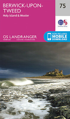 BERWICK-UPON-TWEED LANDRANGER MAP 75 - Ordnance Survey - OS- NEW 2016 + DOWNLOAD