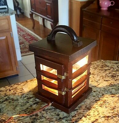 Early 20thc Connecticut Valley Hand Carved Arts/Crafts Barn Lantern