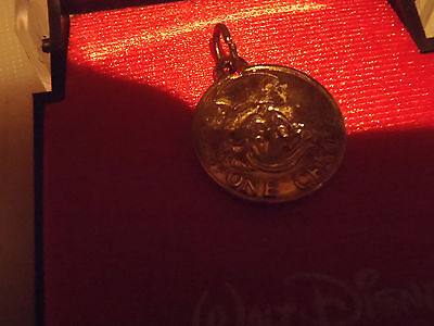 Extremely Rare! Walt Disney Small First Cent of Uncle Scrooge Coin Medal in Box