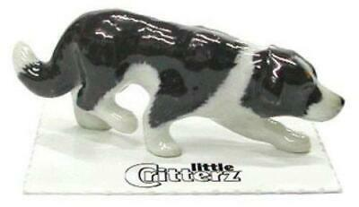 "Little Critterz Miniature Porcelain Animal Figure Border Collie ""Hemp"" LC816"