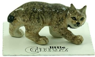 "Little Critterz Miniature Porcelain Animal Figure Canada Lynx ""Luke"" LC842"