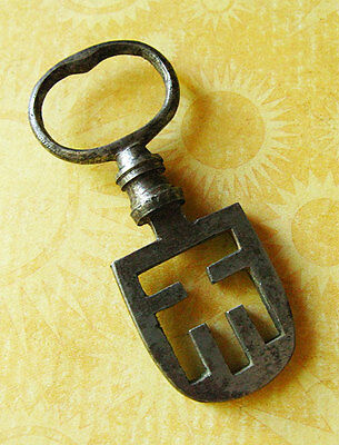 Victorian Antique Scottish Latch Skeleton Key - More Weird Rare Old Keys Here