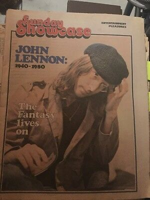 The Sunday Sun - John Lennon December 14 1980