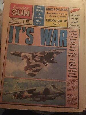 Sunday Sun May 2 1982 Falkland War