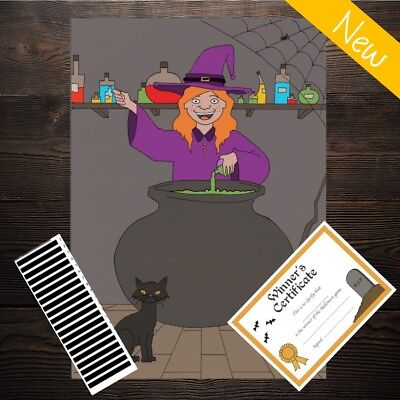 PIN THE NOSE ON THE PUMPKIN - Halloween Kids Game- 20 Players 1st Class Delivery